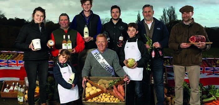 Adam Henson and some of his volunteers