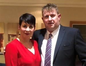 Emma Sharp, left, sales director, with new Pest editor, Simon King