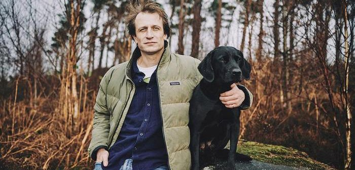 Beco founder George Bramble with his labrador Tarka