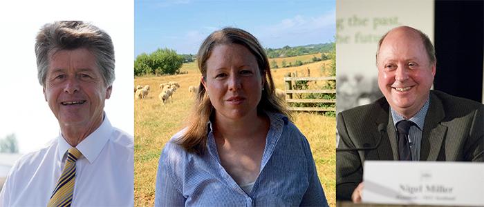 The RHWG leadership team: Gwyn Jones, Caroline Slay and Nigel Miller