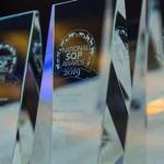 Close up of awards