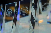 Close up of awards