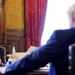 Minette Batters and Boris Johnson