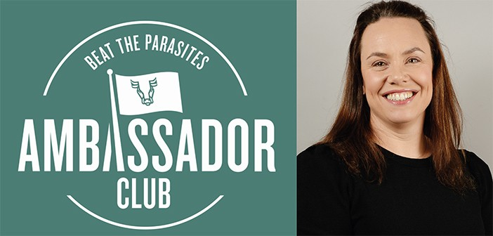 Ambassador Club logo and Victoria Hudson