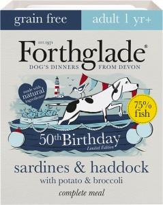 Forthglade's limited edition recipe, Sardines & Haddock with Potato & Broccoli