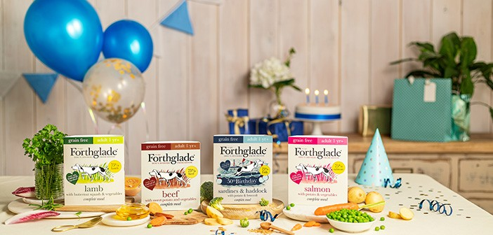 Forthglade table with products on