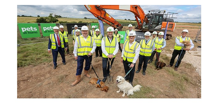 Breaking ground at new Pets at Home site